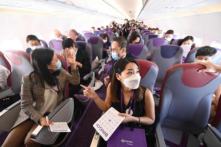 A preview flight carrying around 110 passengers circled Hong Kong and returned 90 minutes later.