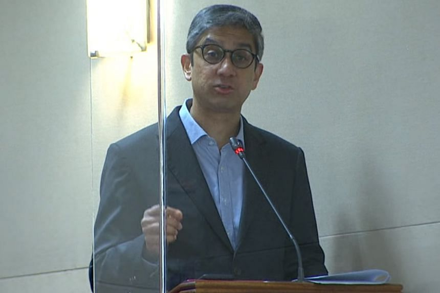 WP MP Leon Perera speaking in Parliament on Oct 15, 2020.