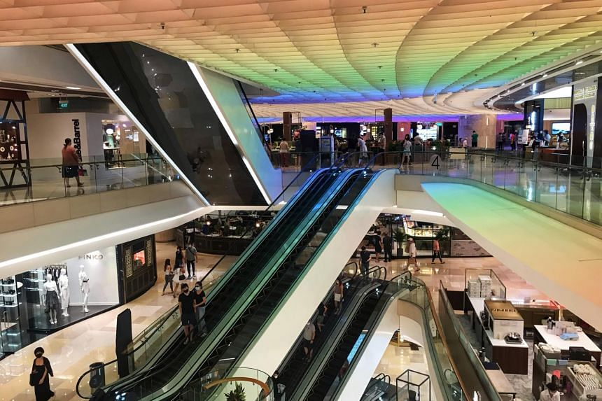 Gross rents fell 11 per cent for prime retail spaces along the Orchard Road shopping belt.