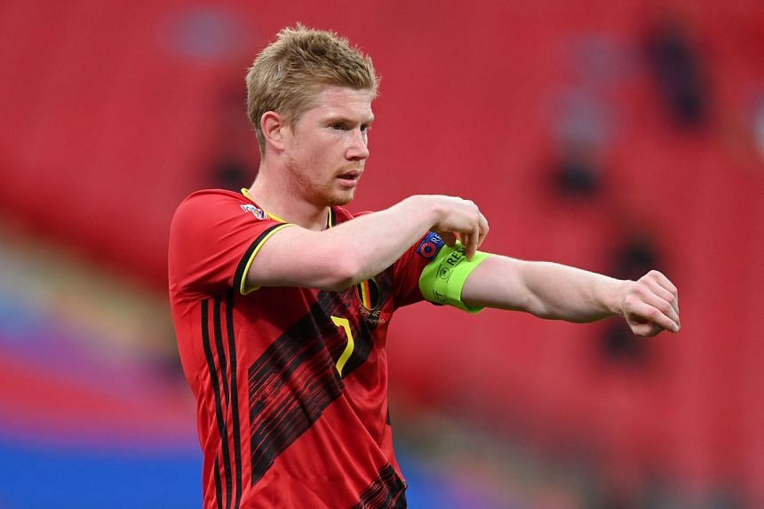 Kevin de Bruyne was withdrawn in the second half of Belgium's Nations League defeat against England.