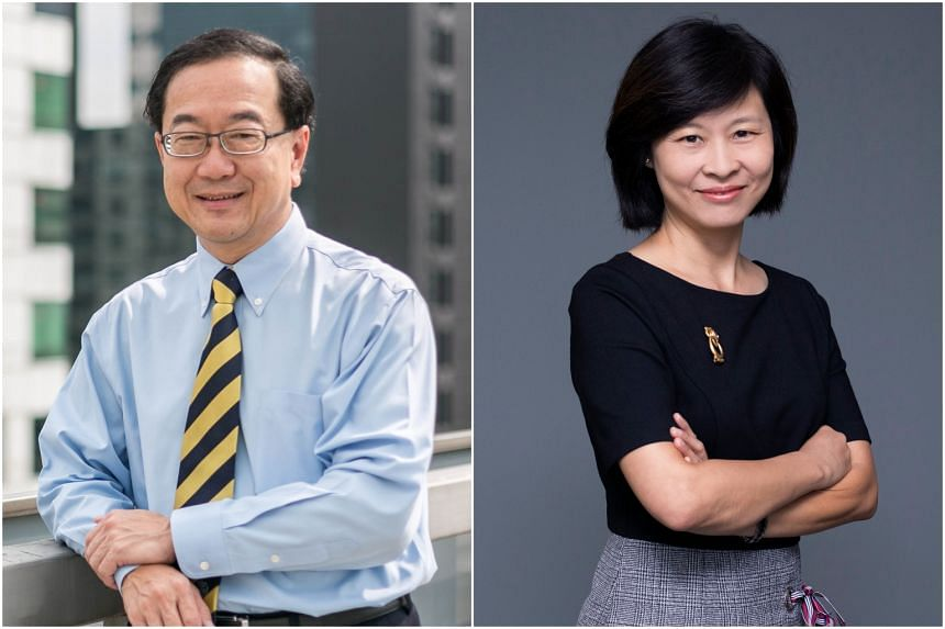 Mr Chia Mia Chiang (left) is stepping down and Mrs Tan-Soh Wai Lan is taking over as president-designate.