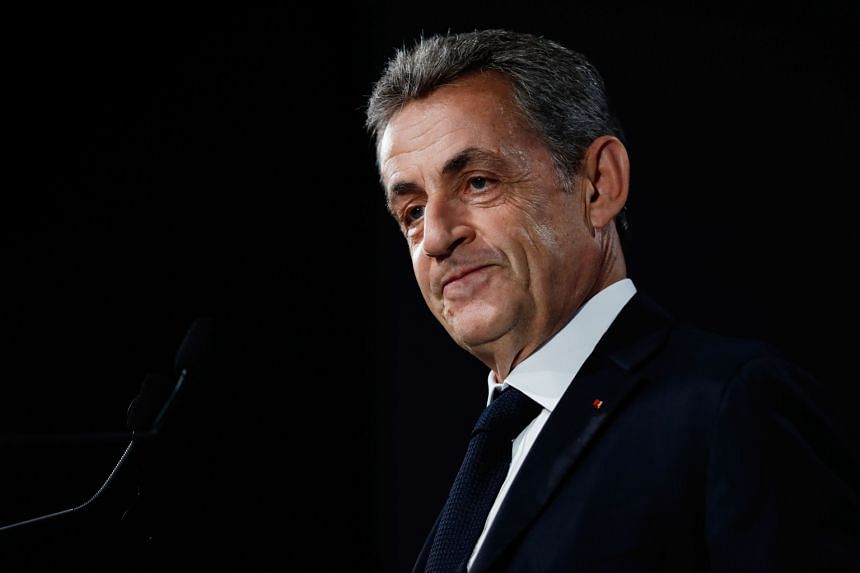 """Former French President Nicolas Sarkozy claims he's victim of a """"plot"""" in this case."""