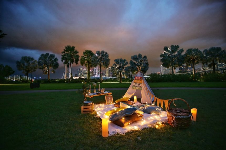 Picnic providers offer everything from food, drinks and picnic mats; wine and candle-lit dinners; to full-on decor.