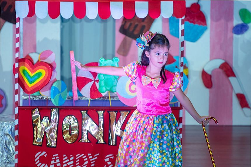 Yasmin Aurora Brown performs at her Kindergarten 2 graduation concert in 2019.