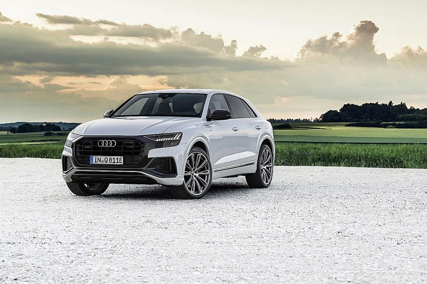 Audi Q8 TFSI e with electric range of up to 45km