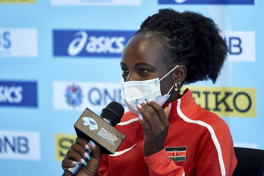 Peres Jepchirchir finished in a time of 1hr 5min 16sec to improve her own mark set in Prague on Sept, 2020.