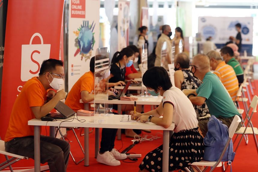 About 800 jobseekers attended the two-day career fair held at Our Tampines Hub.