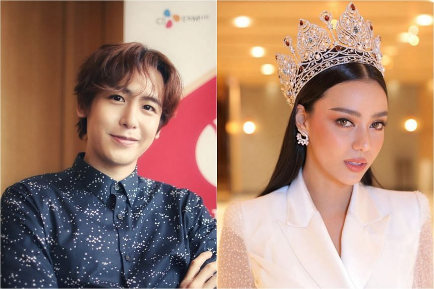 Thai-American K-Pop idol Nichkhun (left) and newly crowned Miss Universe Thailand Amanda Obdam were among the celebrities who spoke up.