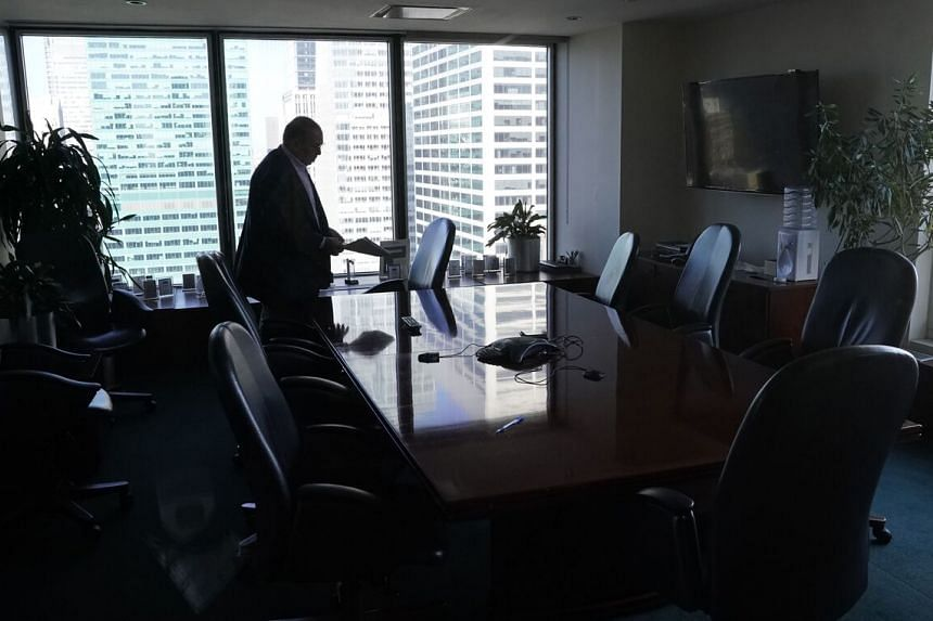 Managing partner of Westwood Capital Daniel Alpert is seen in his office on Fifth Avenue in New York on Oct 15, 2020.