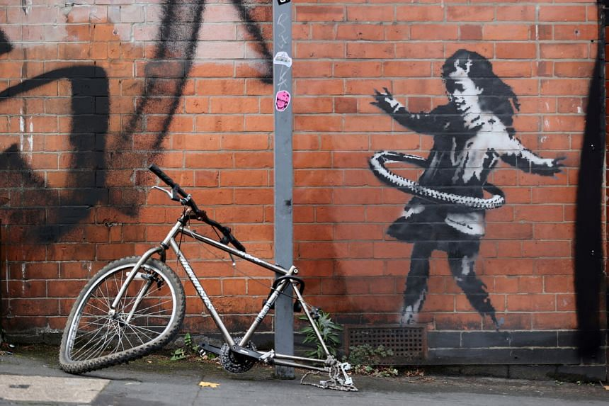 Banksy is known for witty artworks that often make powerful references to world affairs.