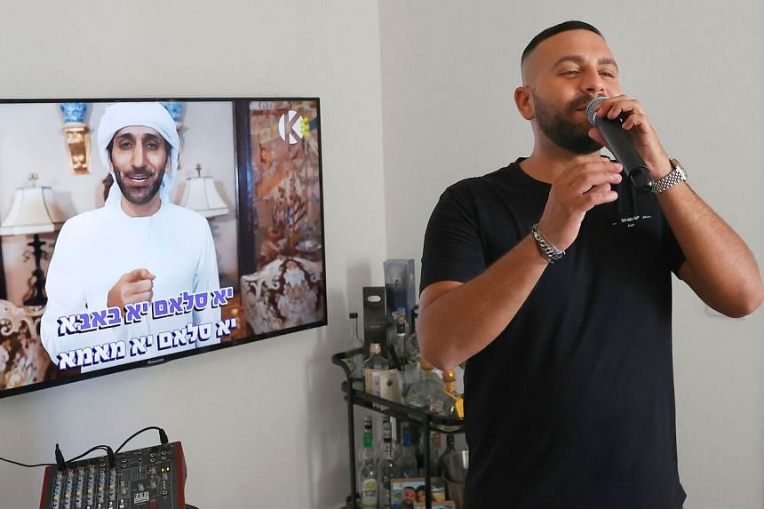 Israeli singer Elkana Marziano's duet with Emirati artist Walid Aljasim (on screen) has clocked more than 1.1 million YouTube views since it was posted on Sept 30.