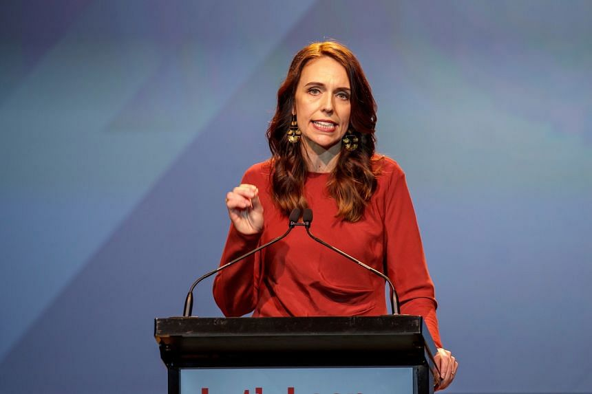 New Zealand Prime Minister Jacinda Ardern speaks at an election night event in Auckland on Oct 17, 2020.