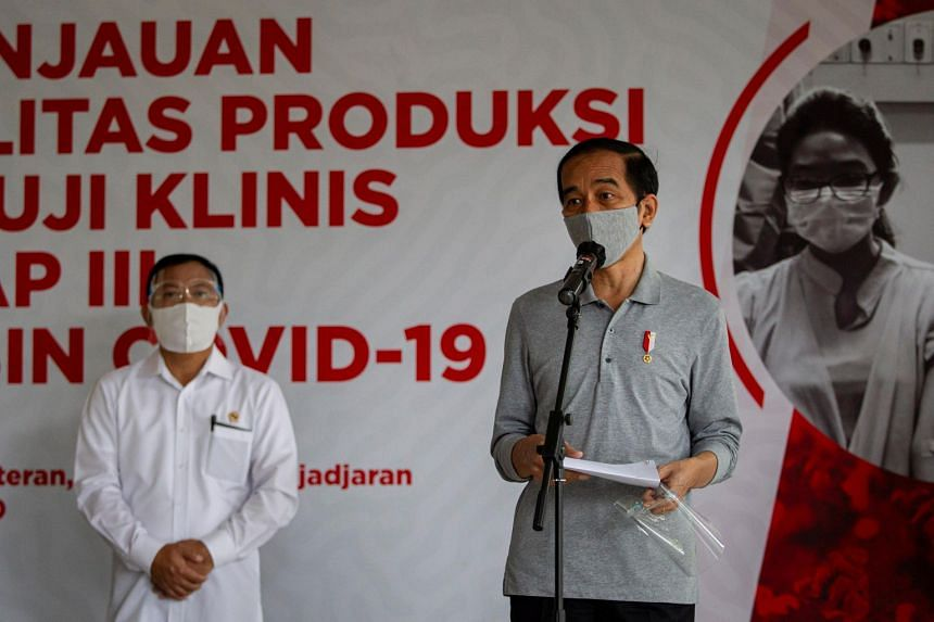Mr Joko Widodo said that scale of inoculation in an archipelagic nation of 270 million would be uniquely challenging.