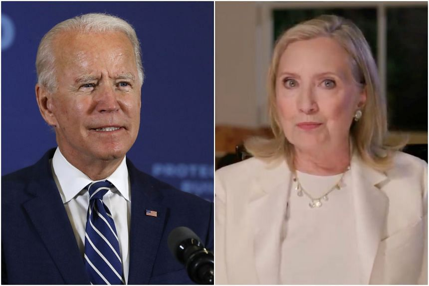 Joe Biden (left) is more acceptable to these voters than Hillary Clinton was, in ways large and small, personal and political, sexist and not.