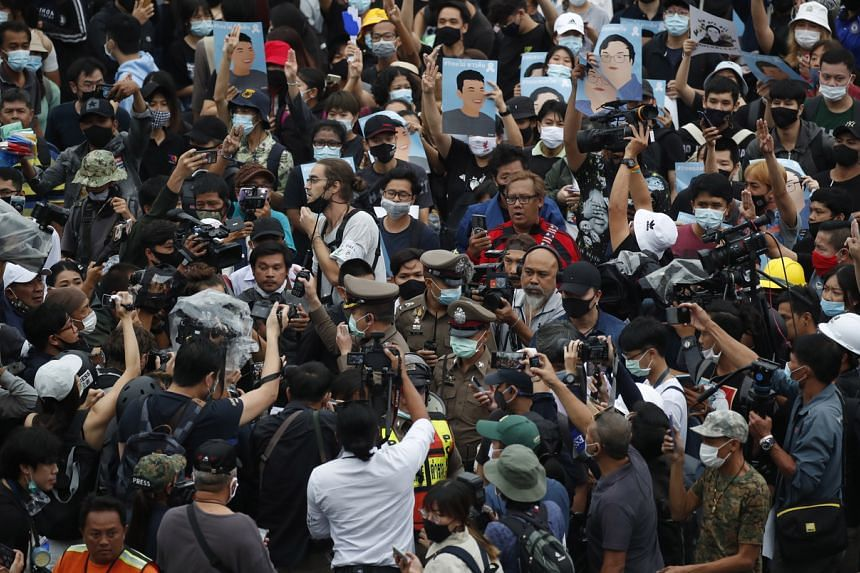 Tens of thousands of pro-democracy protesters rallied in Bangkok for a fifth day on Oct 18, 2020.