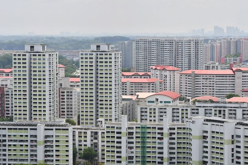 HDB flats in Jurong East on Aug 1, 2020.