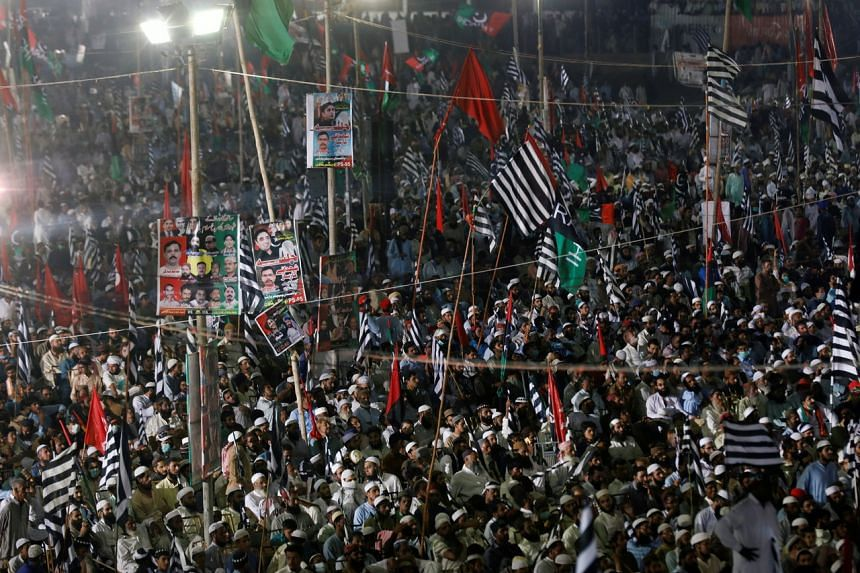 The protests come as Pakistan's economy struggles with double digit inflation and negative growth.