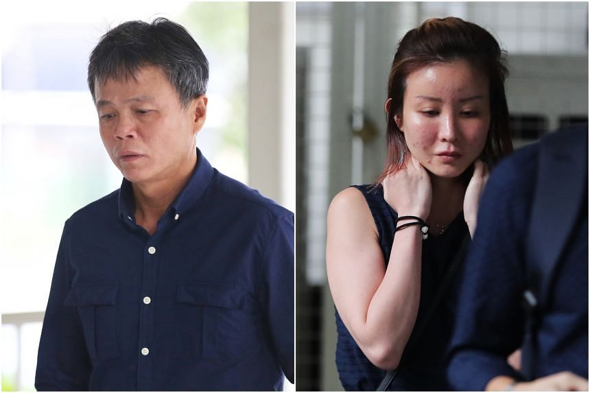 Ong Hock Chye (left) will be spending an additional 3½ years behind bars reoffending while on bail for attacking Miss Audrey Chen Ying Fang's lover.