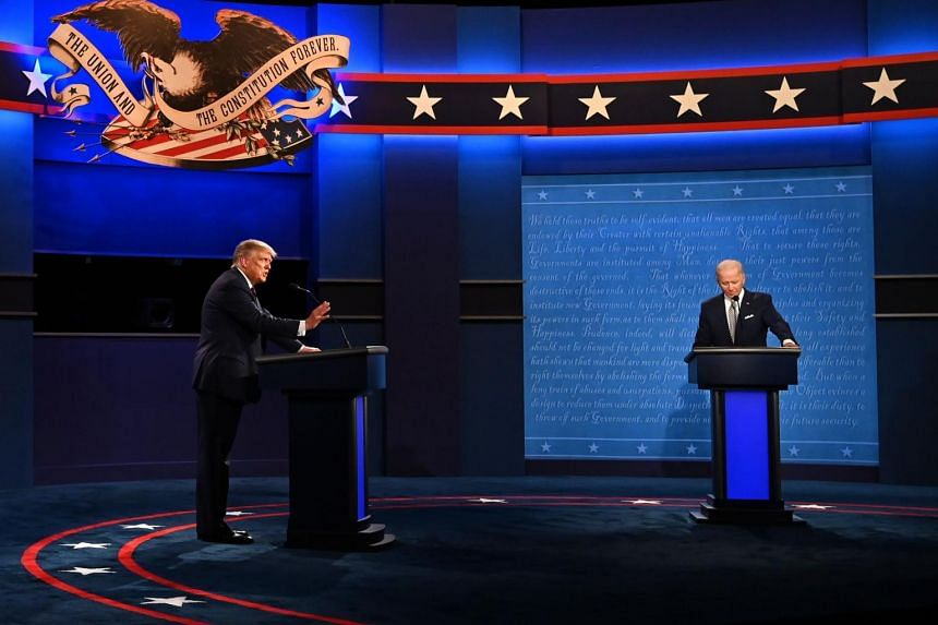 Mr Trump repeatedly interrupted Mr Biden during a chaotic and ill-tempered first debate on Sept 29.