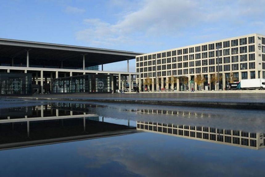 Terminal 1 of Berlin-Brandenburg Willy Brandt Airport, ahead of its opening.