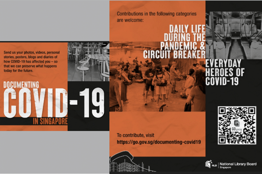 NLB is compiling photographs, videos, journals and other materials into archives through the 'Document Covid-19 in Singapore' project.
