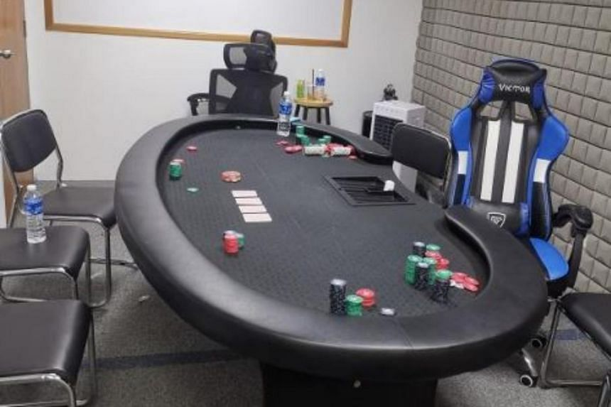 Preliminary investigations found that the space was allegedly operating as a gambling den.