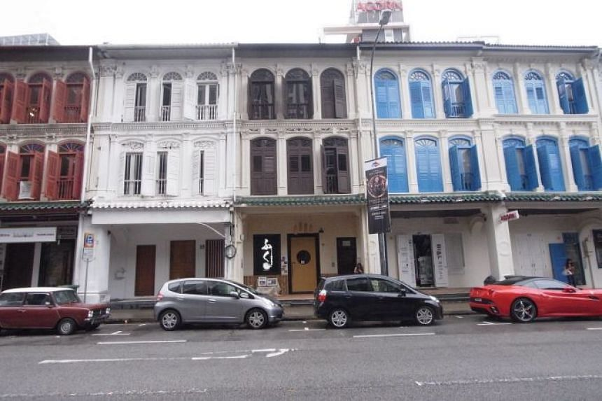 The 999-year leasehold Mohamed Sultan shophouse spans 2,400 sq ft in land area and 7,600 sq ft in floor area.