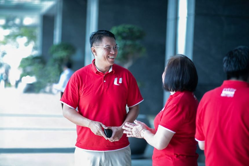NTUC's assistant secretary-general and labour Member of Parliament (MP) Patrick Tay has regular catch-ups with union leaders and members to hear their concerns and the challenges that they face. PHOTO: NTUC