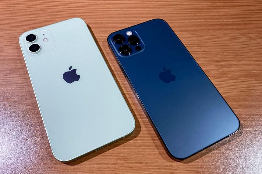 The Apple iPhone 12 (left) and iPhone 12 Pro will be available for purchase on Oct 23, 2020.