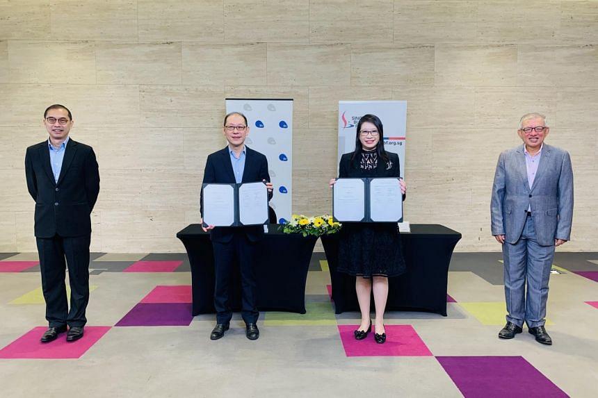 (From left) Mr Tan Boon Khai, Mr Alvin Tan, Ms Joanne Guo and Mr Ho Meng Kit.