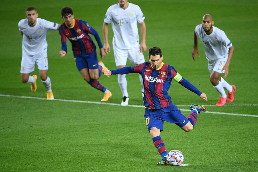 Messi netted from the penalty spot in the first half for his 116th career goal in the competition.