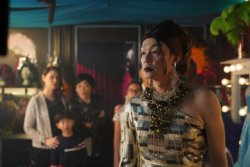 Mark Lee in drag for the movie Number 1.
