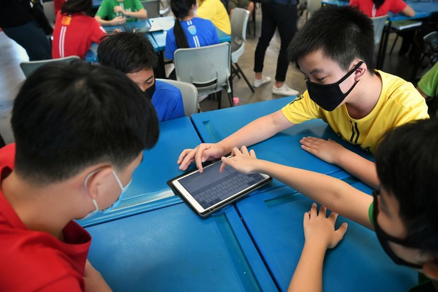 About 46 per cent of the Singapore students who took the test achieved the highest global competency proficiency levels.