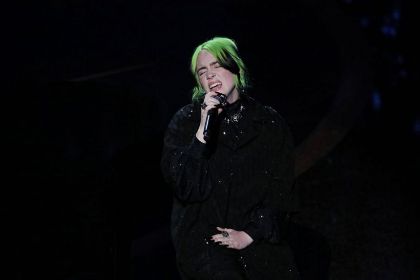 Grammy-winning pop singer Billie Eilish will make up for canned gigs with a live stream show.