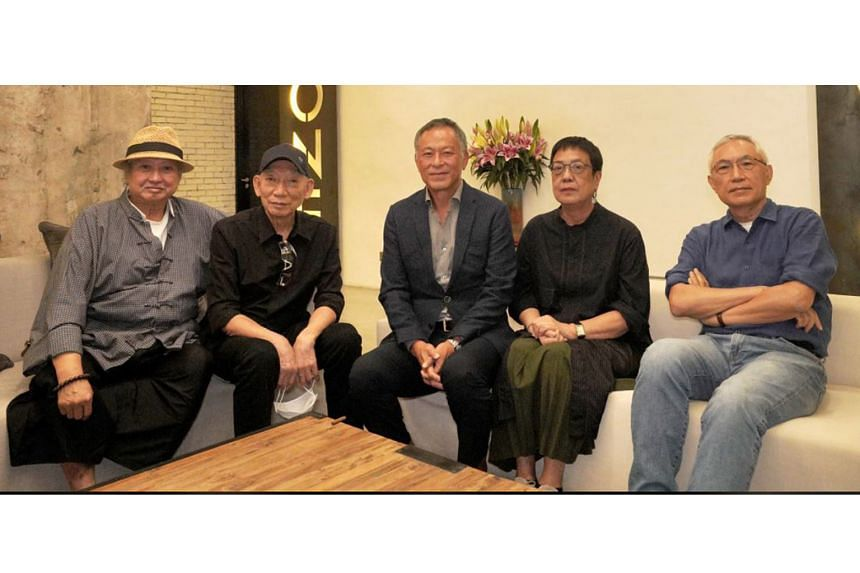 The directors of Septet: The Story Of Hong Kong (from left): Sammo Hung, Yuen Wo Ping, Johnnie To, Ann Hui and Patrick Tam.