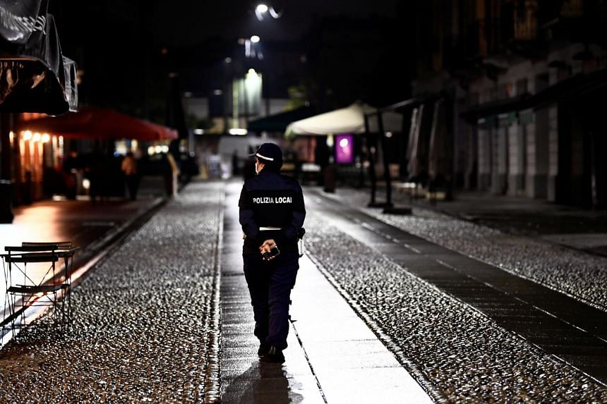 The northern Lombardy region of Italy has enforced an overnight curfew for three weeks.