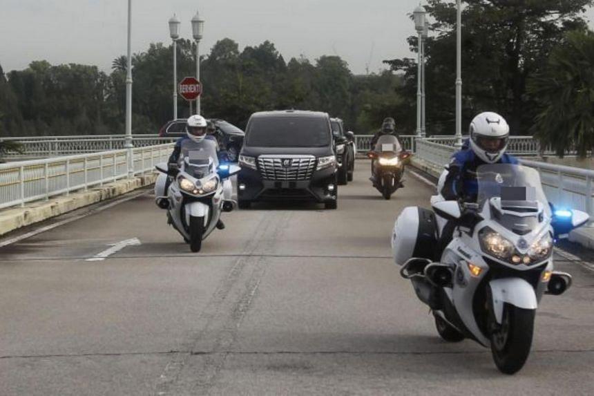 Malaysian Prime minister Tan Sri Muhyiddin Yassin arrives at Perdana Putra in Kuala Lumpur on Oct 23, 2020.