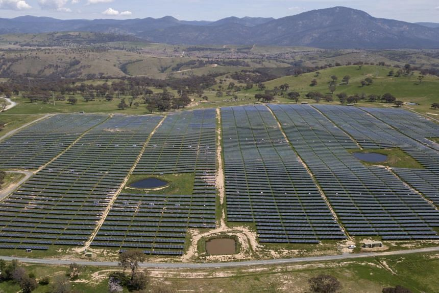 A photo from Oct 15, 2020, shows Williamsdale Solar Farm in Australia.