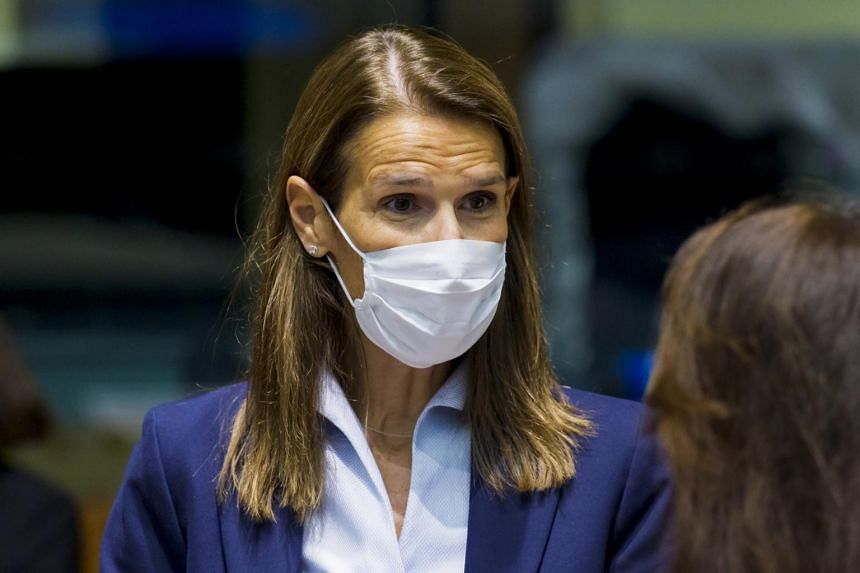 Belgian foreign minister Sophie Wilmes said on Oct 17 that she had tested positive for Covid-19.