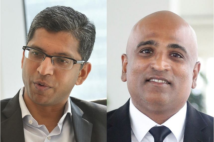 Mr M. Ravi (right) sought an apology from the public prosecutor to his client Gobi Avedian in a letter to Deputy Attorney-General Hri Kumar Nair (left) on Wednesday.