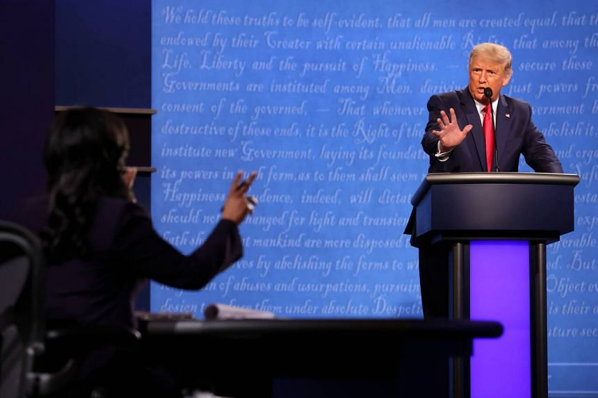 US President Donald Trump during the final debate in Nashville on Oct 22, 2020.