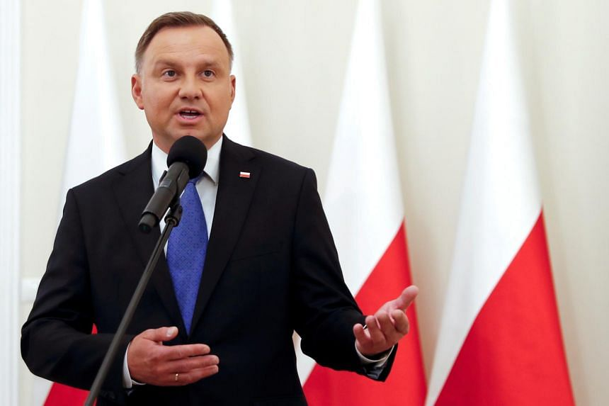 Polish President Andrzej Duda's infection comes as the country imposed new restrictions.