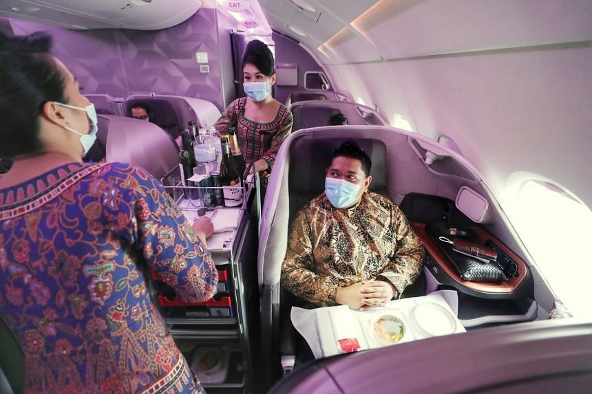 Mr Halim Rahman celebrated his 37th birthday in the business class cabin on board the Airbus A-380.