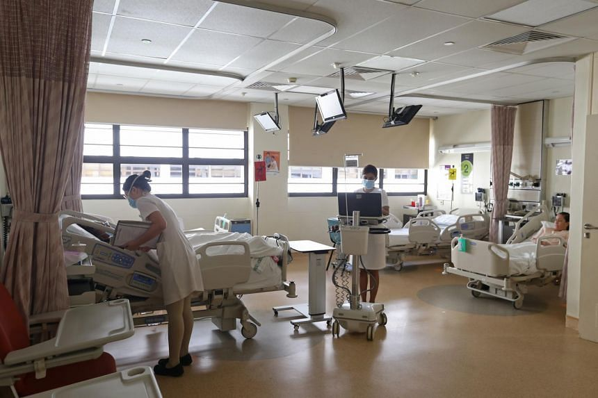 A 4-bedded ward at Singapore General Hospital on Feb 20, 2017.