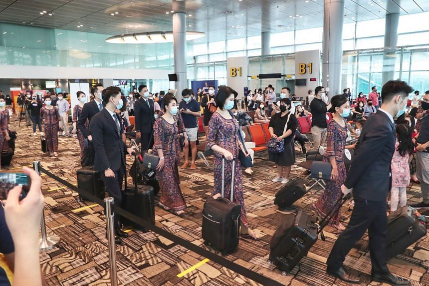 The event saw some buzz returning to a section of the transit area in Terminal 3.