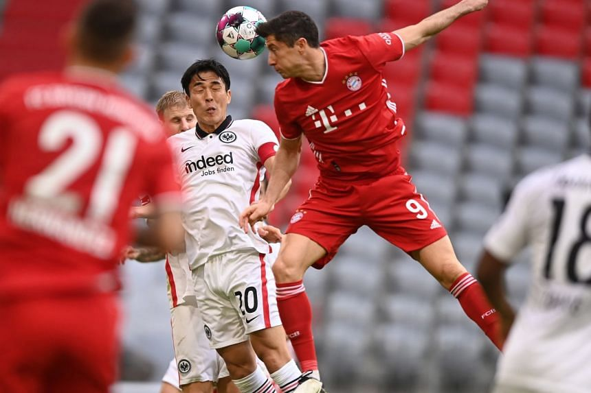 Bayern Munich's Robert Lewandowski in action.