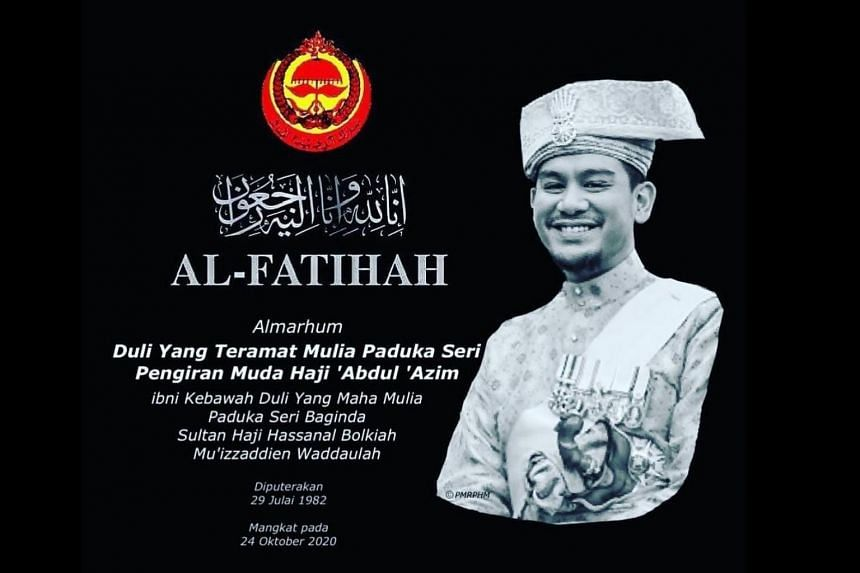 Prince 'Abdul 'Azim was 38 when he died.