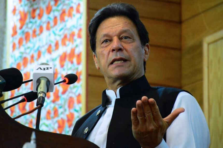 """Pakistani Prime Minister Imran Khan (above) accused French President Emmanuel Macron of """"attacking Islam""""."""