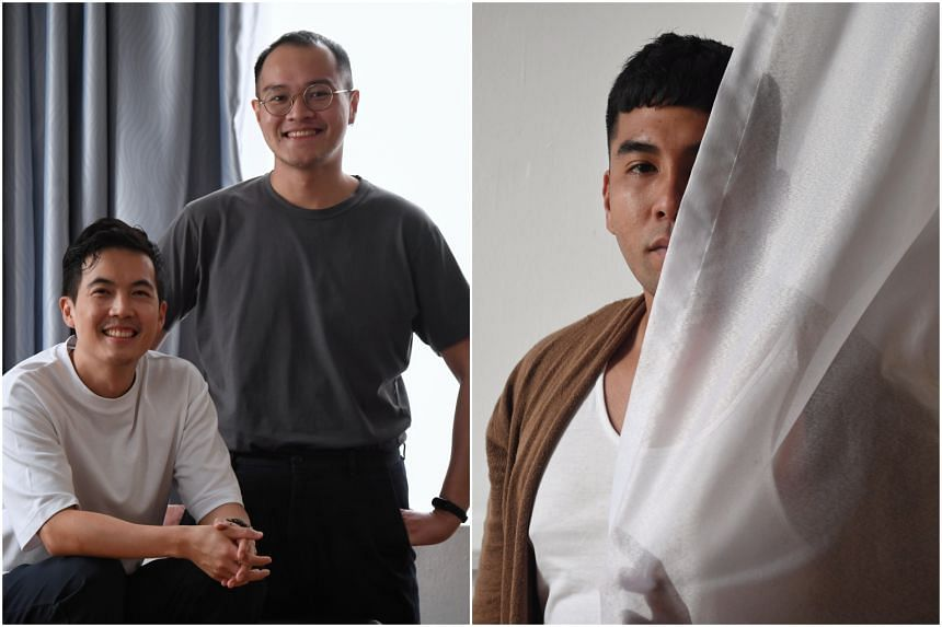 (From left)  Actor-director Shou Chen, playwright Joel Tan will present  on A Bird Calls You To Moscow, while multidisciplinary artist Irfan Kasban's art collective Compound is presenting The Silence Of A Falling Tree.