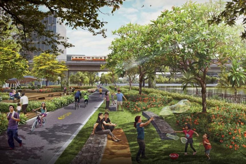 An enhanced greenery network, part of the green masterplan for the Sungei Kadut industrial area.